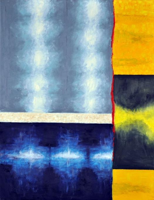 Sylwia Maruszczak-Płuciennik ,,Inner landscape. Composition 3'', oil on canvas, 110/85, 2013-2014