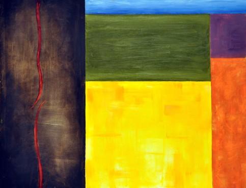 Sylwia Maruszczak-Płuciennik ,,Inner landscape. Composition 4'', oil on canvas, 110/85, 2013-2014