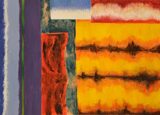 Sylwia Maruszczak-Płuciennik ,,Inner landscape. Composition 5'', oil on canvas, 110/85, 2013-2014