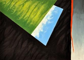 Sylwia Maruszczak-Płuciennik ,,Inner landscape. Composition 9'', oil on canvas, 110/80, 2013-2014