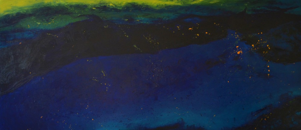 Sylwia Maruszczak-Płuciennik ,,Profundity of the ocean'', oil on canvas, 160/70, 2015.